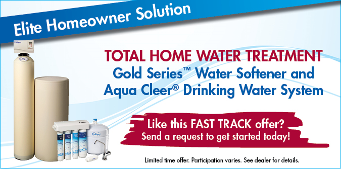 Total Home Water Treatment. Gold Series water softener and aqua-cleer drinking water system